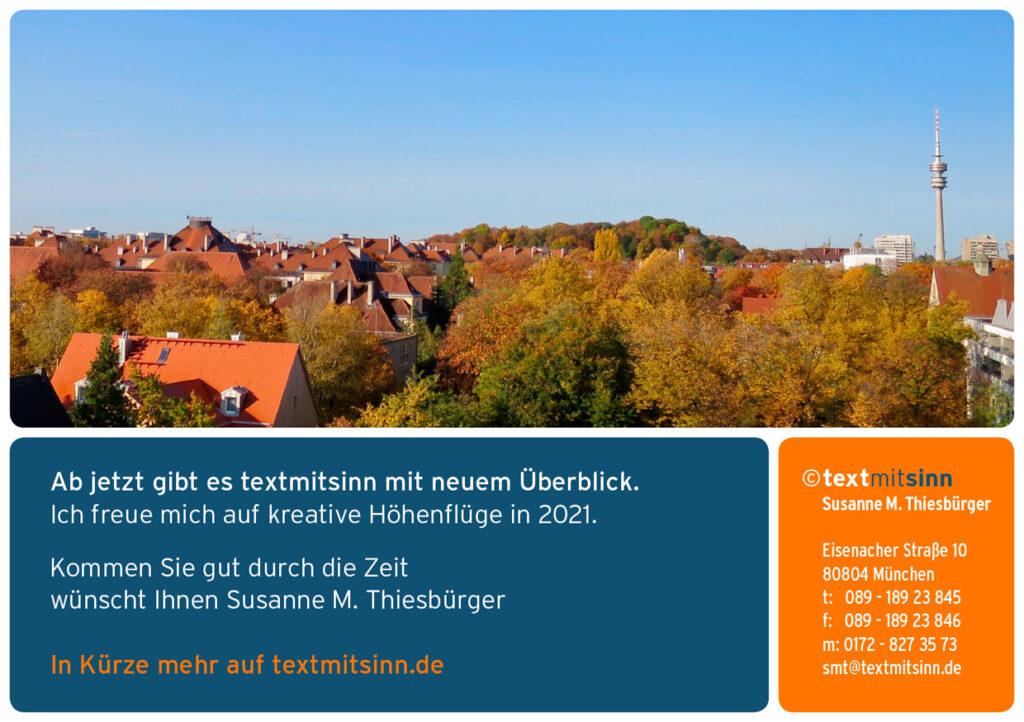 Text mit Sinn Susanne Thiesbürger
